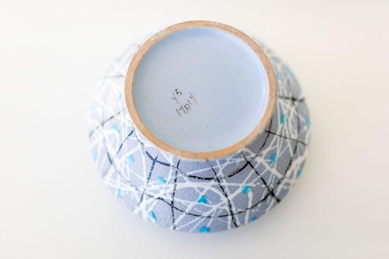Mid-Century Modern Italian Pottery Fratelli Fanciullacci Bowl For Sale
