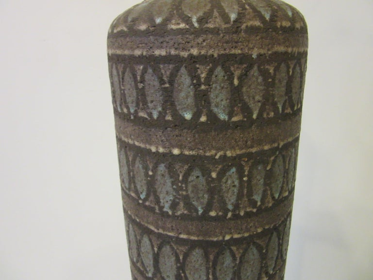Italian Pottery Lamp in the Style of Fantoni For Sale 1