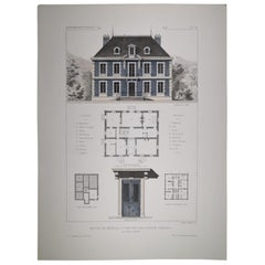 Italian Provencal French Style Architecture Hand Painted Print '2 of 4'