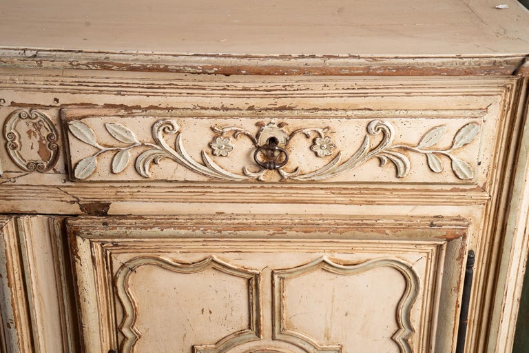 Other Italian Provincial Carved and Painted Buffet For Sale