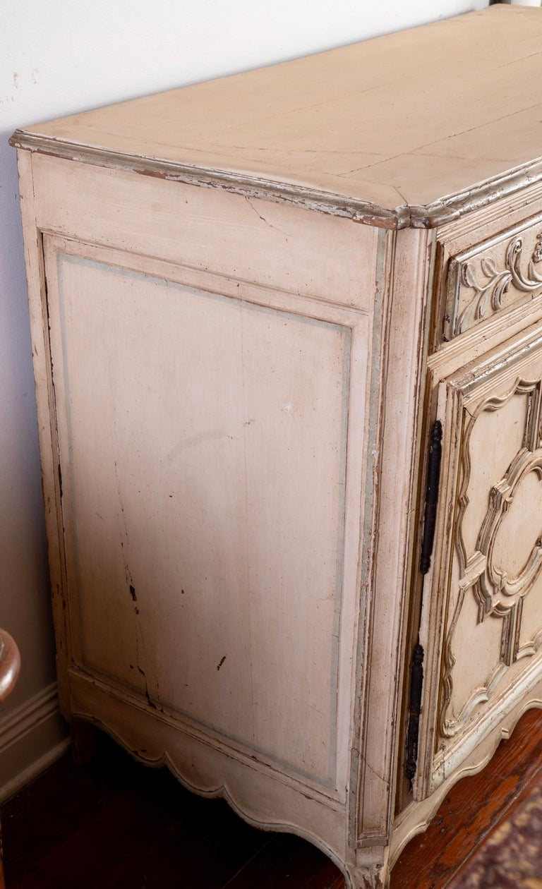 Italian Provincial Carved and Painted Buffet For Sale 1