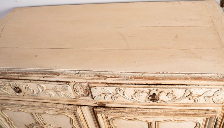 Italian Provincial Carved and Painted Buffet For Sale 2