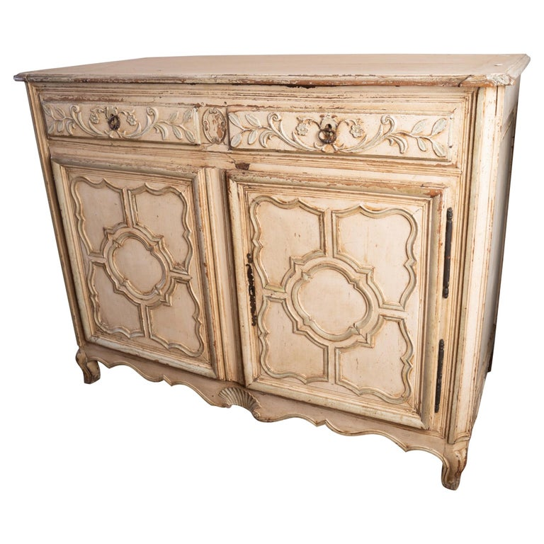 Italian Provincial Carved and Painted Buffet For Sale