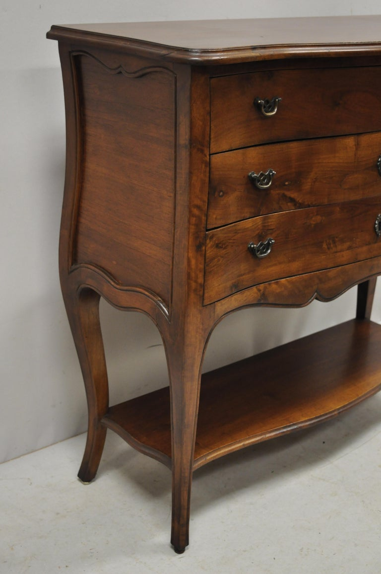 Italian Provincial French Louis XV Cherrywood Commode Chest Table by B. Altman For Sale 5