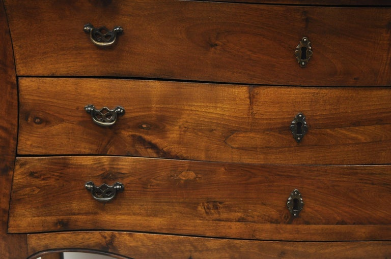 French Provincial Italian Provincial French Louis XV Cherrywood Commode Chest Table by B. Altman For Sale