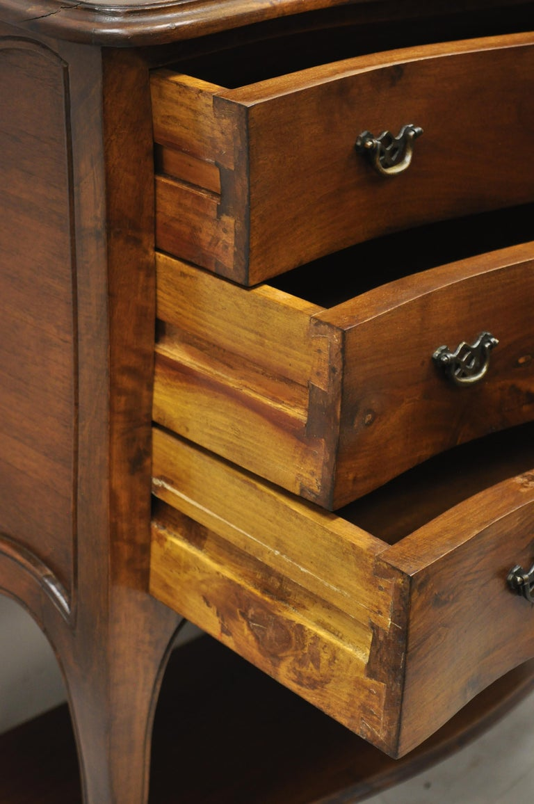 Italian Provincial French Louis XV Cherrywood Commode Chest Table by B. Altman For Sale 1