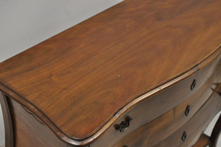 Italian Provincial French Louis XV Cherrywood Commode Chest Table by B. Altman For Sale 3