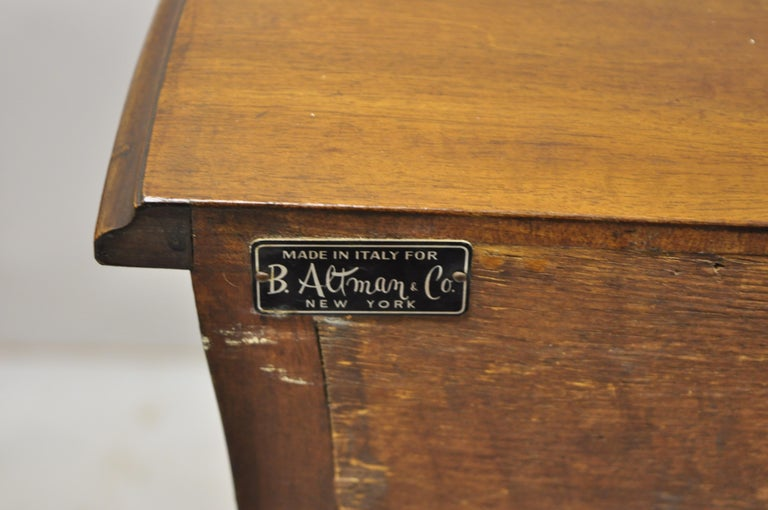 Italian Provincial French Louis XV Cherrywood Commode Chest Table by B. Altman For Sale 4