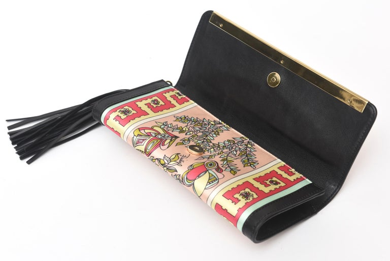 Pucci Silk and Leather Small Clutch And or Wallet For Sale 1