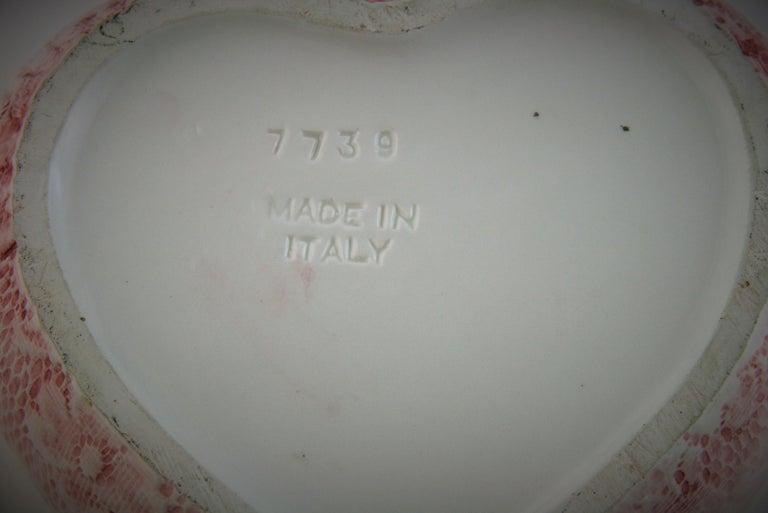 Italian Putti Heart Shaped Box For Sale 3