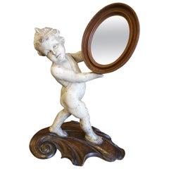 Italian Putti Holding a Mirror