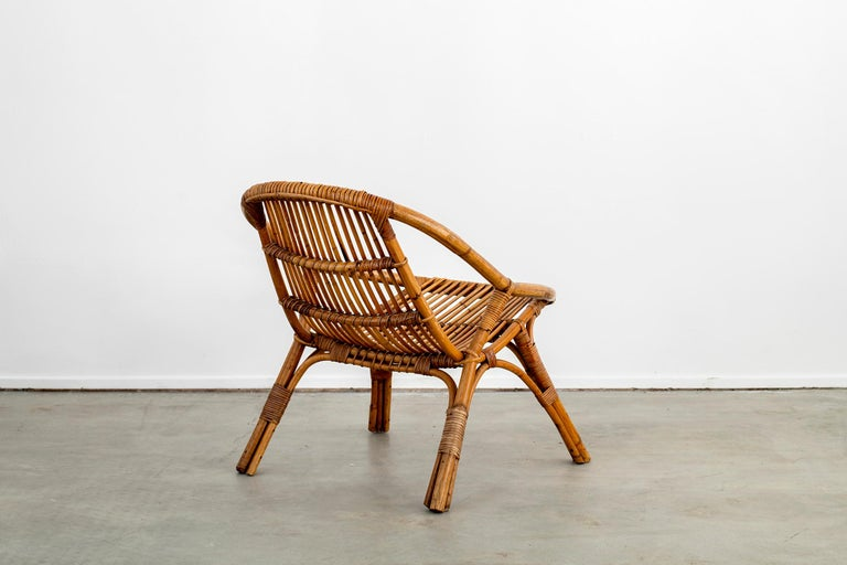 Italian Rattan and Bamboo Chairs For Sale 7