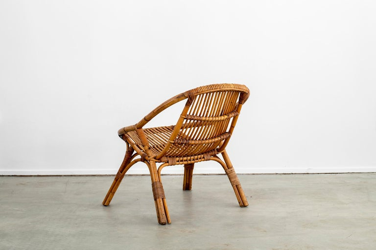 Italian Rattan and Bamboo Chairs For Sale 9