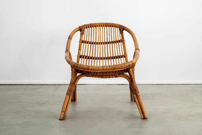 Italian Rattan and Bamboo Chairs For Sale 10