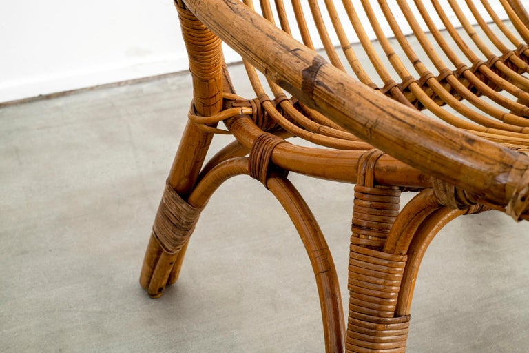 Italian Rattan and Bamboo Chairs For Sale 12