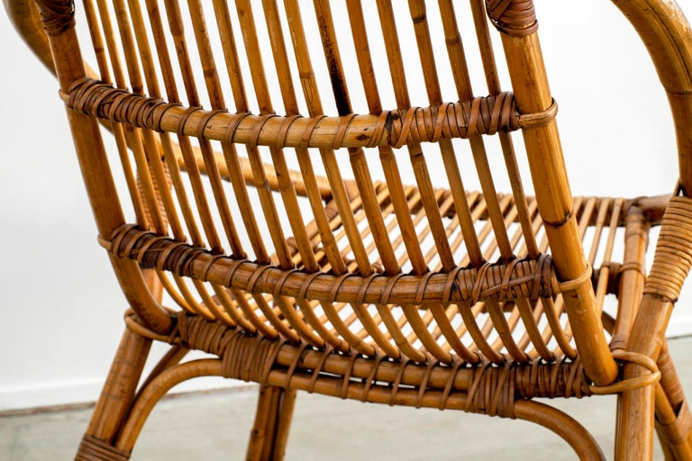 Italian Rattan and Bamboo Chairs For Sale 13