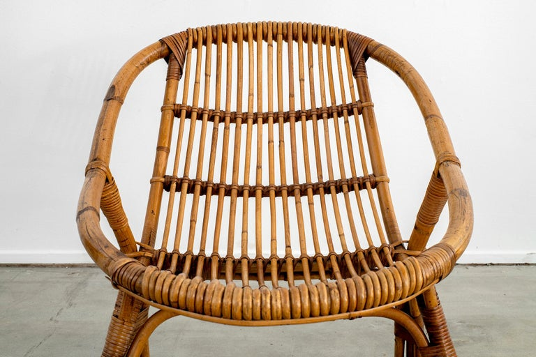 Italian Rattan and Bamboo Chairs For Sale 1