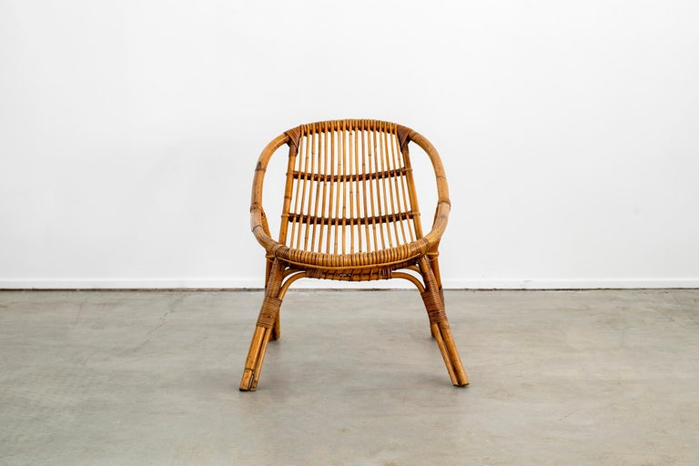Italian Rattan and Bamboo Chairs For Sale 3