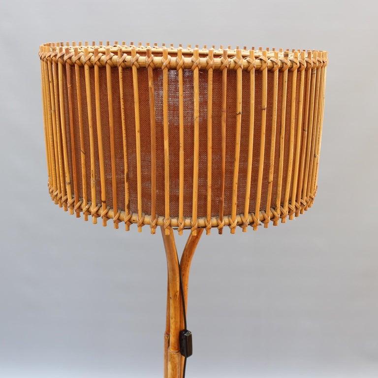 Italian Rattan And Bamboo Floor Lamp Circa 1960s At 1stdibs