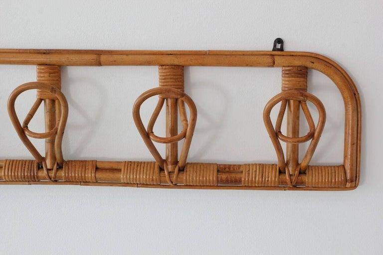 Italian Rattan Coat Rack For Sale 1