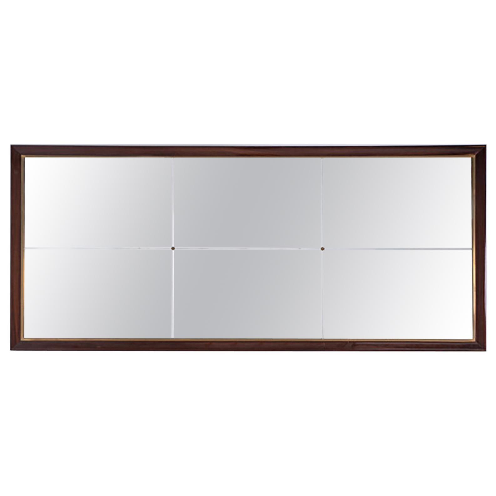 Italian Rectangular Wall Mirror Midcentury, 1950s