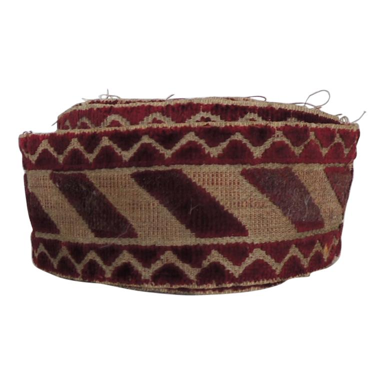 Italian Red and Gold Woven Antique Trim For Sale