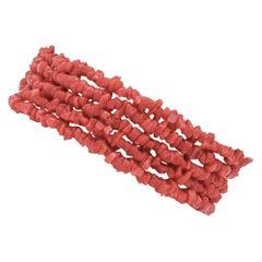 Italian Red Coral Rows, Retrò/Vintage Bracelet