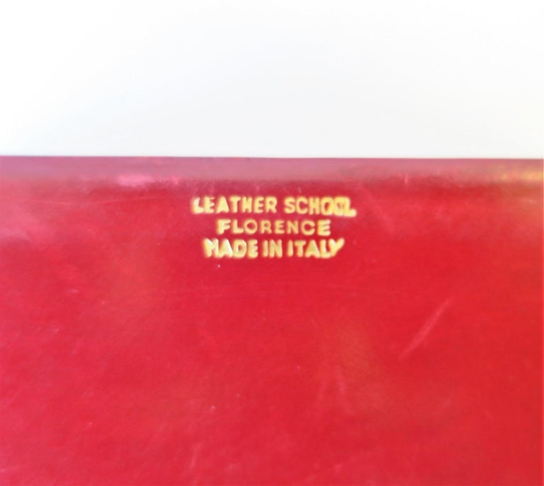 Italian Red Ox Blood Vintage Leather Box For Sale 9