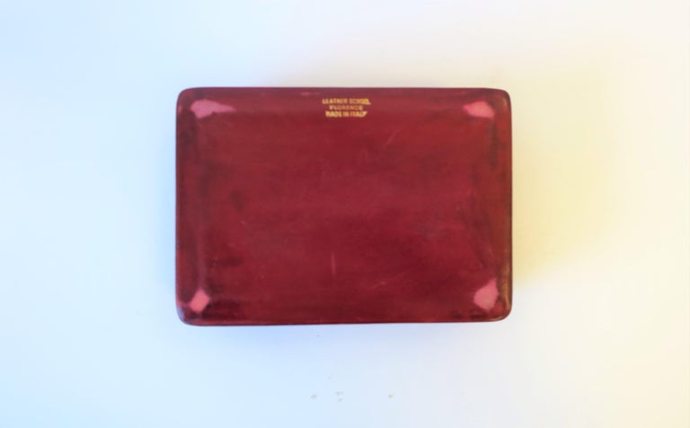 Italian Red Ox Blood Vintage Leather Box For Sale 11