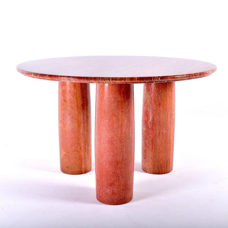 Italian Red Travertine Dining Table Il Colonnato By Mario