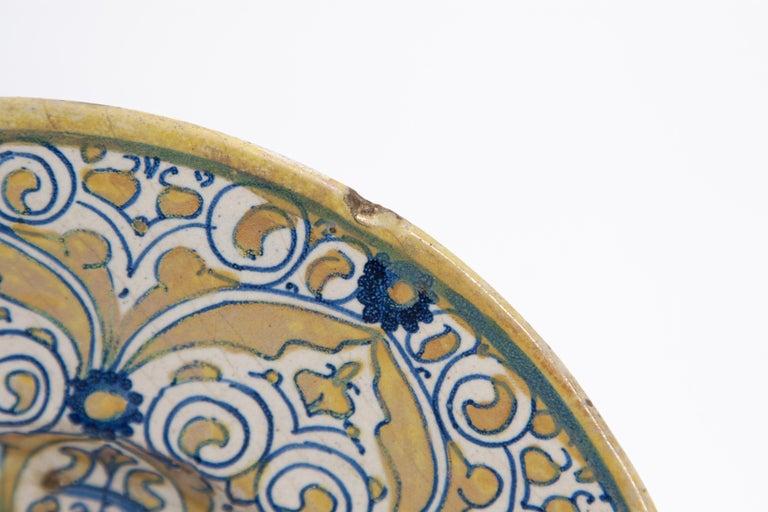 Earthenware Italian Renaissance Maiolica Deruta Lustre Dish For Sale