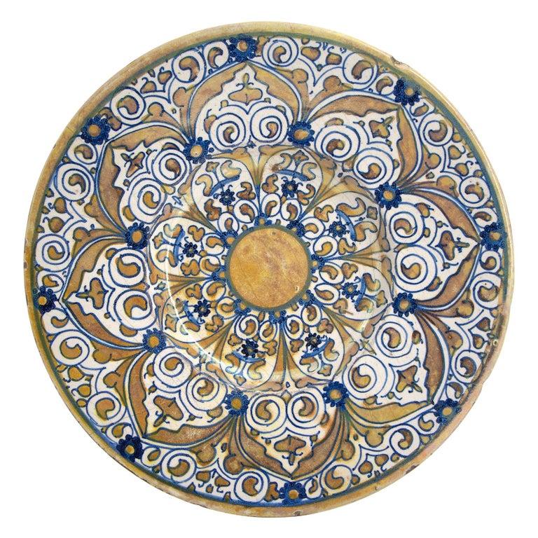 Italian Renaissance Maiolica Deruta Lustre Dish For Sale