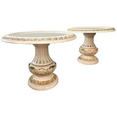 Italian Renaissance Pedestal Side Tables, a Pair