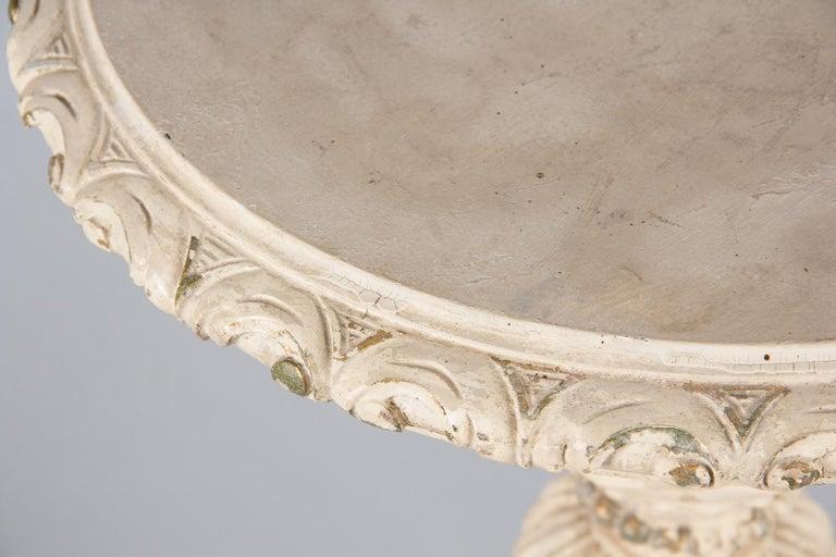 20th Century Italian Renaissance Revival Painted Pedestal Side Table, 1950s For Sale