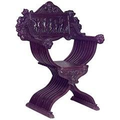 Italian Renaissance Savonarola Style Armchair