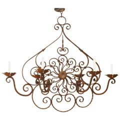 Italian Renaissance Style '19th-20th Century' Wrought Iron Chandelier
