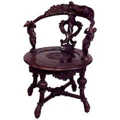 Italian Renaissance Style '19th Century' Walnut Armchair