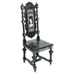 Italian Renaissance Style Carved Chair from Second Half of the 19th Century