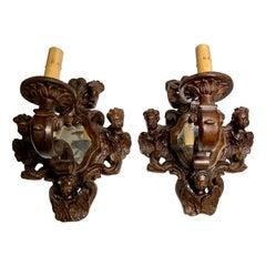 Italian Renaissance Style Mirrored Sconces