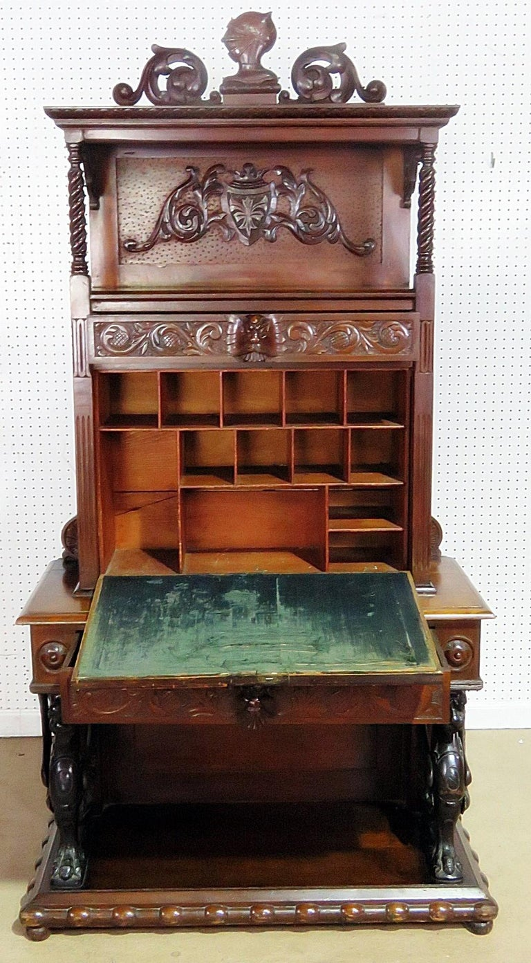 Italienisches Renaissance Stil Sekretär Schreibtisch Im Angebot Bei