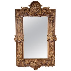 Italian Renaissance Style Trompe L'oeil Mirror
