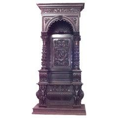 Italian Renaissance Walnut Throne Chair