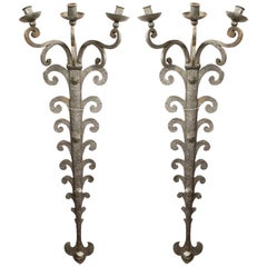 Italian Renaissance Wrought Iron Wall Sconces