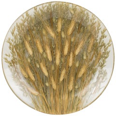 Italian Resin and Wheat Centerpiece Bowl Platter
