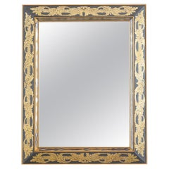 Italian Reverse Painted Eglomise Style Acanthus Mirror