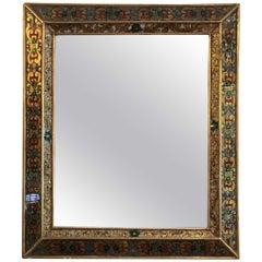 Italian Reversed Glass Painting Eglomise Mirror