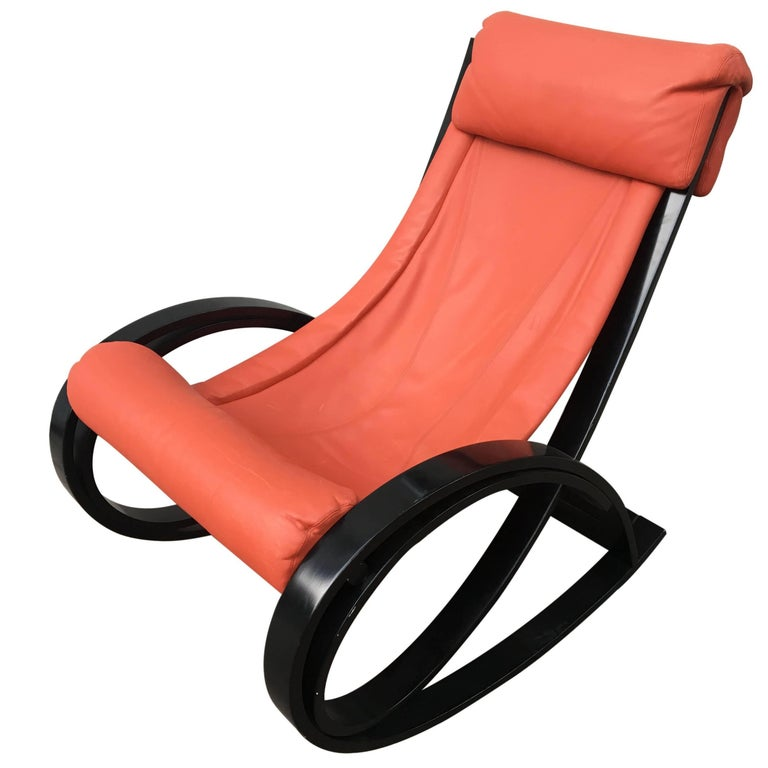 Italian Rocking Chair by Gae Aulenti for Poltronova