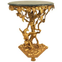 Italian Rococo Gilt Round End Table - 1stdibs New York