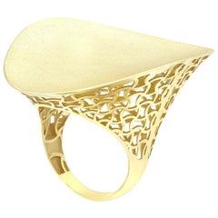 Italian Rococo Baroque Style Fashion Yellow Gold 14 Karat Ring