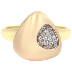 Italian Rococo Baroque Style Pink Gold 14 Karat Statement Ring for Her